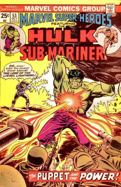 Cover for Marvel Super-Heroes (Marvel, 1967 series) #53