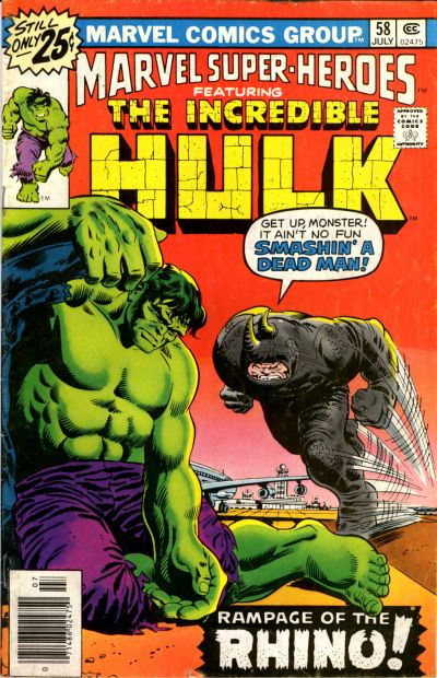 Cover for Marvel Super-Heroes (Marvel, 1967 series) #58