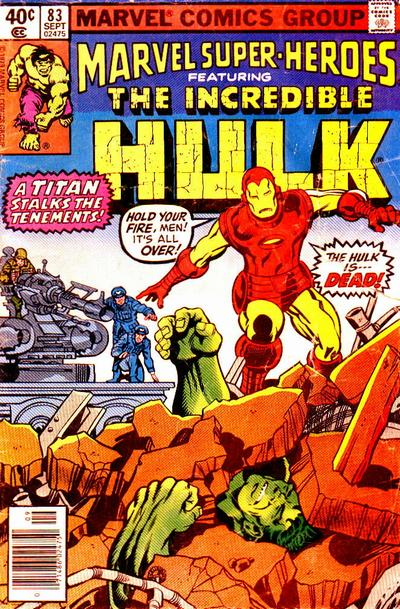 Cover for Marvel Super-Heroes (Marvel, 1967 series) #83