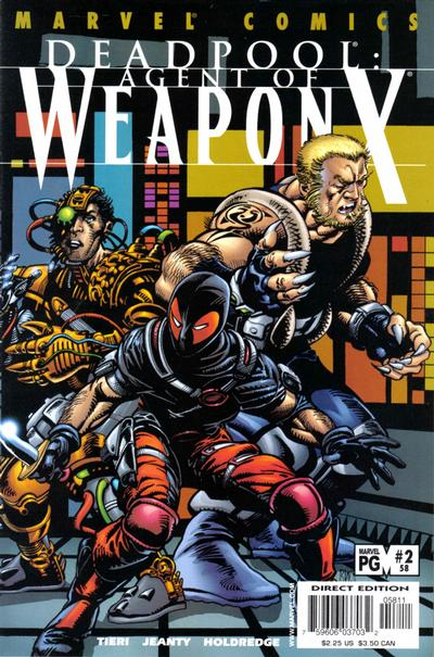 Cover for Deadpool (Marvel, 1997 series) #58 [Direct Edition]
