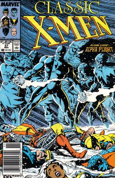 Cover for Classic X-Men (1986 series) #27 [Newsstand Edition]
