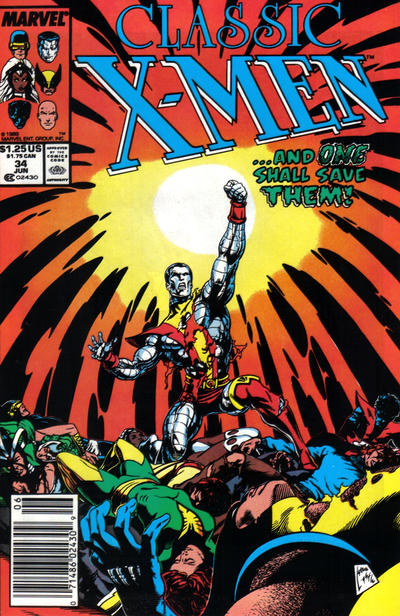 Cover for Classic X-Men (Marvel, 1986 series) #34 [Newsstand Edition]