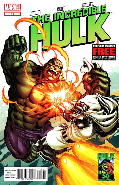 Cover for The Incredible Hulk (Marvel, 2011 series) #15