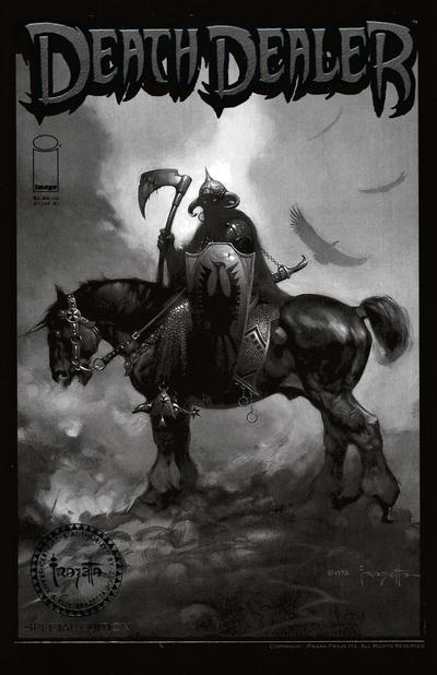 Cover for Frank Frazetta's Death Dealer (2007 series) #1 [Certified Gold Stamp Cover]