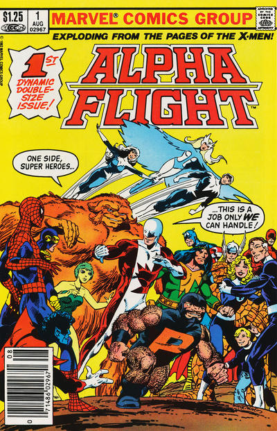 Cover for Alpha Flight (1983 series) #1 [Newsstand]
