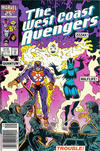 Cover Thumbnail for West Coast Avengers (1985 series) #12 [Newsstand Edition]