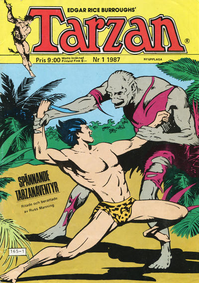 Cover for Tarzan (Atlantic Förlags AB, 1977 series) #1/1987