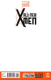 Cover Thumbnail for All-New X-Men (Marvel, 2013 series) #1 [Blank Cover Variant]