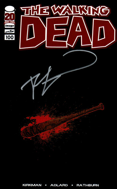 Cover for The Walking Dead (Image, 2003 series) #100 [Retailer Appreciation Lucille Variant Cover Signed by Robert Kirkman]