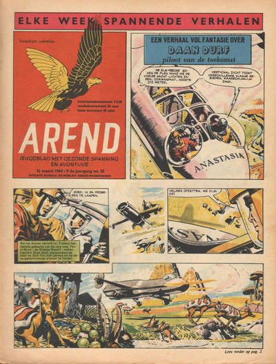 Cover for Arend (Bureau Arend, 1955 series) #Jaargang 9/25
