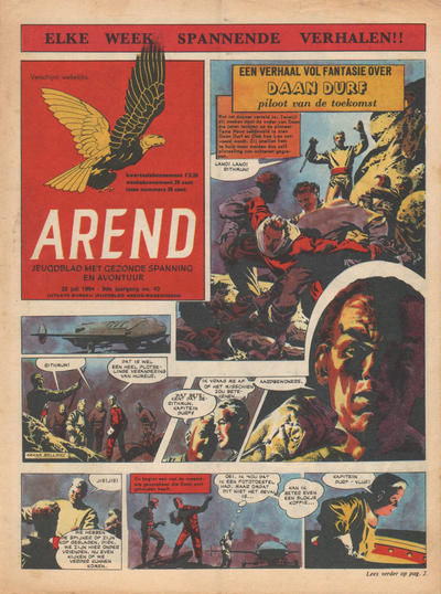 Cover for Arend (Bureau Arend, 1955 series) #Jaargang 9/43