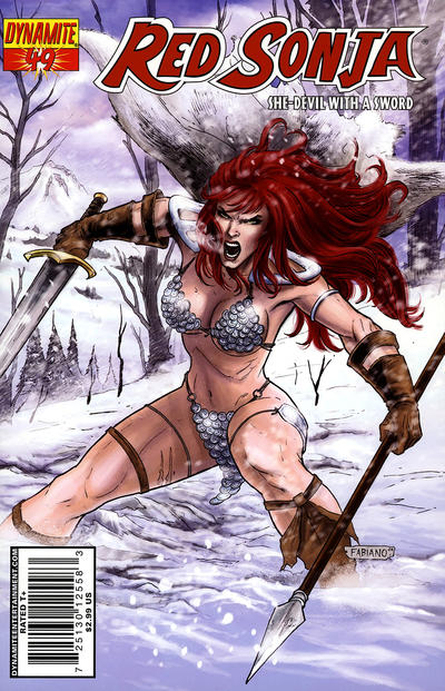 Cover for Red Sonja (Dynamite Entertainment, 2005 series) #49 [Cover B by Fabiano Neves]