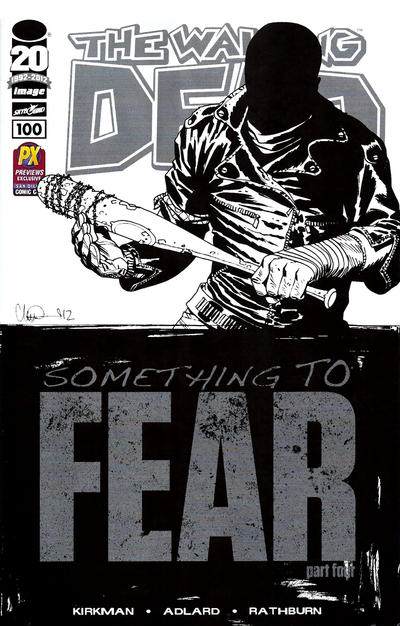 Cover for The Walking Dead (2003 series) #100 [2nd Printing Cover by Charlie Adlard]