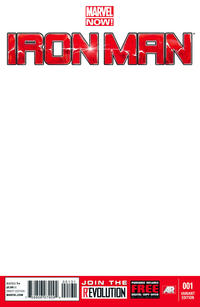 Cover Thumbnail for Iron Man (Marvel, 2013 series) #1 [Blank Variant Cover]