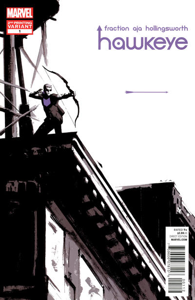 Cover for Hawkeye (2012 series) #1 [3rd Printing Cover by David Aja]