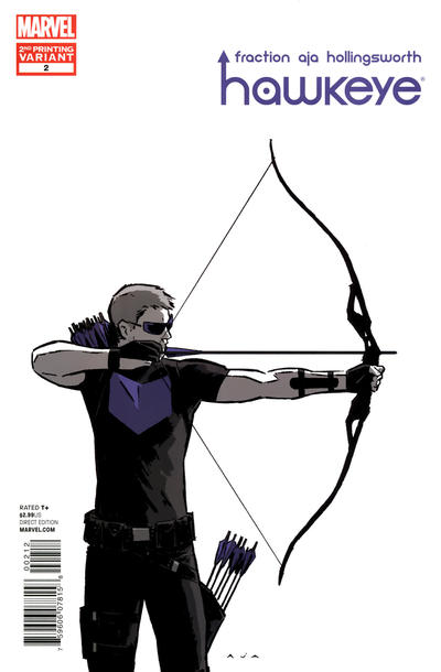 Cover for Hawkeye (2012 series) #2 [3rd Printing Cover by David Aja]