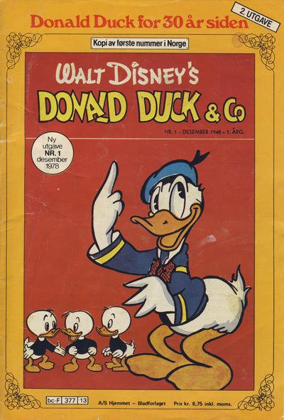 Cover for Donald Duck for 30 år siden (Hjemmet, 1978 series) #1/1978 [2. opplag]