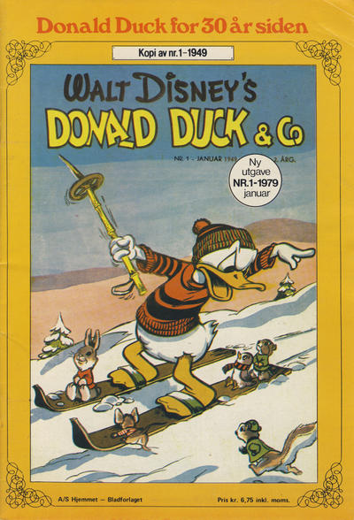 Cover for Donald Duck for 30 år siden (Hjemmet, 1978 series) #1/1979 [2. opplag]