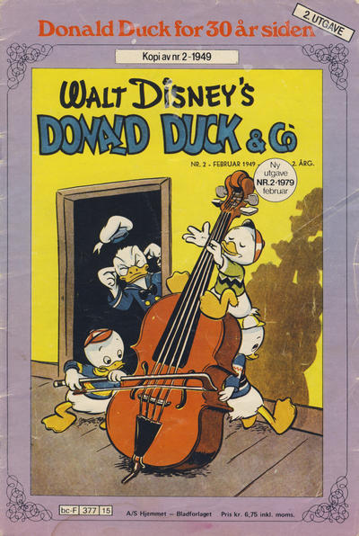 Cover for Donald Duck for 30 år siden (Hjemmet, 1978 series) #2/1979 [2. opplag]