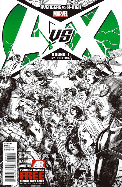 Cover for Avengers Vs. X-Men (2012 series) #1 [6th Printing Variant]