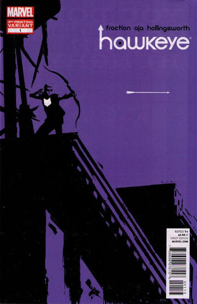 Cover for Hawkeye (2012 series) #1 [2nd Printing Cover by David Aja]