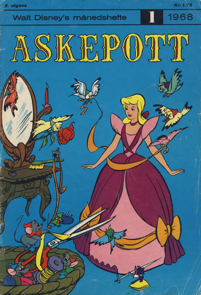 Cover for Walt Disney's Månedshefte (1967 series) #1/1968