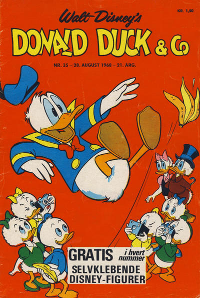 Cover for Donald Duck & Co (Hjemmet, 1948 series) #35/1968