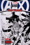 Cover for AVX: Consequences (Marvel, 2012 series) #4 [Black & White Second Printing Variant by Salvador Larroca]