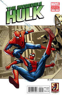 Cover Thumbnail for The Incredible Hulk (Marvel, 2011 series) #9 [Spider-Man In Motion Variant Cover by Khoi Pahm]