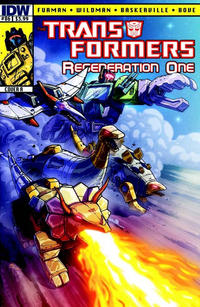 Cover for Transformers: Regeneration One (IDW, 2012 series) #86 [Cover RI - Incentive Geoff Senior Variant]