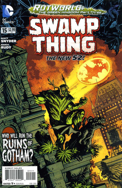 Cover for Swamp Thing (DC, 2011 series) #15