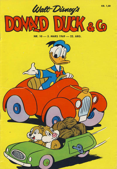 Cover for Donald Duck & Co (Hjemmet, 1948 series) #10/1969