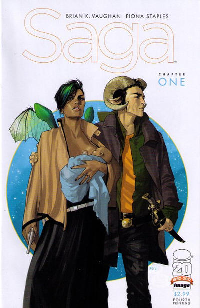 Cover for Saga (Image, 2012 series) #1 [Fiona Staples Retailer Incentive Cover]