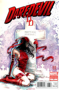 Cover Thumbnail for Daredevil: End of Days (Marvel, 2012 series) #3 [Variant Cover by David Mack - [Elektra by Murdock's Tomb]]