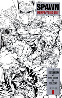 Cover Thumbnail for Spawn (Image, 1992 series) #224 [Cover B - B&W Incentive Variant by Todd McFarlane]