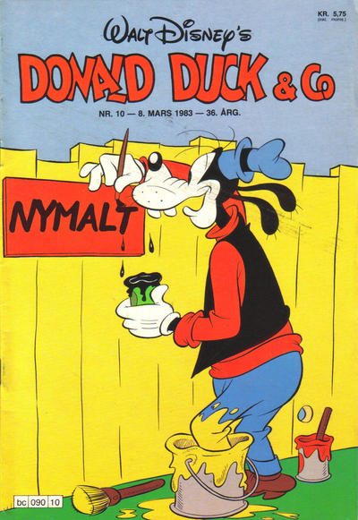 Cover for Donald Duck & Co (Hjemmet, 1948 series) #10/1983