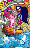 Cover for Adventure Time: Marceline and the Scream Queens (Boom! Studios, 2012 series) #1 [Diamond Distributors SDCC Exclusive Cover by Jab]