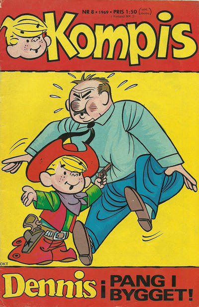 Cover for Dennis (Semic, 1969 series) #8/1969