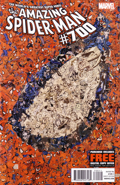 Cover for The Amazing Spider-Man (Marvel, 1999 series) #700 [3rd Printing Variant Cover by Giuseppe Camuncoli]