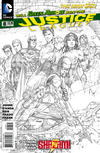 Cover Thumbnail for Justice League (2011 series) #8 [Sketch Variant Cover by Jim Lee]