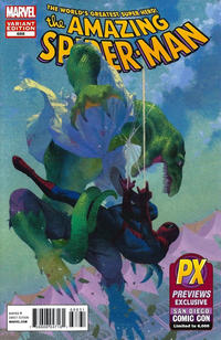 Cover Thumbnail for The Amazing Spider-Man (Marvel, 1999 series) #688 [SDCC 2012 Retail Exclusive Lizard Variant Cover by Esad Ribic]