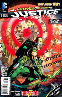 Cover Thumbnail for Justice League (DC, 2011 series) #8 [Combo-Pack Edition Cover by Jim Lee]