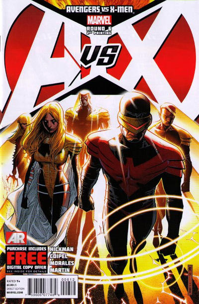 Cover for Avengers vs. X-Men (Marvel, 2012 series) #6 [Bradshaw Sketch Variant]