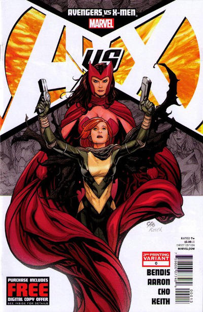 "Cover for Avengers Vs. X-Men (2012 series) #0 [6th Printing ""Recycling"" Cover by Frank Cho]"