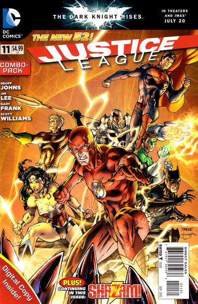 Cover for Justice League (DC, 2011 series) #11 [Bryan Hitch Cover]