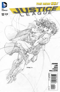 Cover Thumbnail for Justice League (DC, 2011 series) #12 [Sketch Variant Cover by Jim Lee]