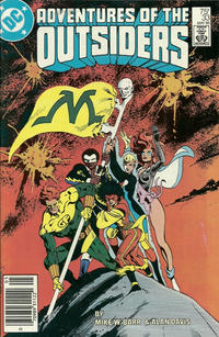 Cover Thumbnail for Adventures of the Outsiders (DC, 1986 series) #33 [Newsstand]