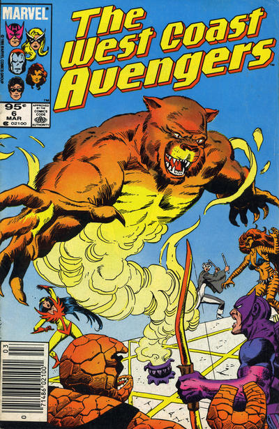 Cover for West Coast Avengers (Marvel, 1985 series) #6 [Direct Edition]