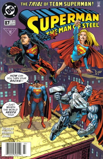 Cover for Superman: The Man of Steel (DC, 1991 series) #87 [Newsstand Edition]