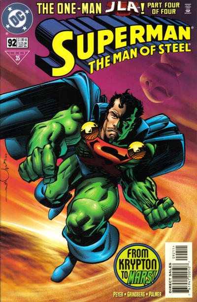 Cover for Superman: The Man of Steel (1991 series) #92